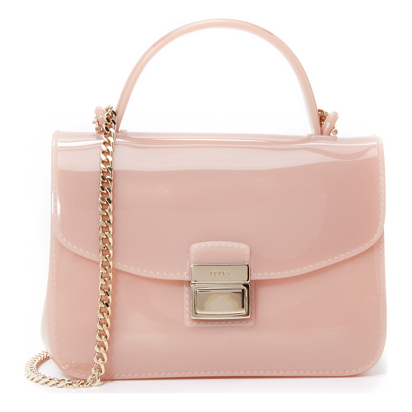 FURLA Candy metropolis mini cross body bag - A mini Furla cross body bag in structured rubber. A