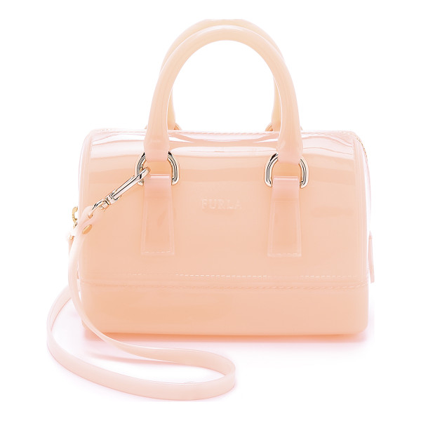 FURLA Candy sweetie mini satchel - A petite Furla bag in glossy rubber. The zip top opens to