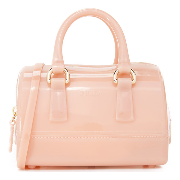 FURLA Candy sweetie mini satchel - A petite Furla cross body bag in colorful rubber. The