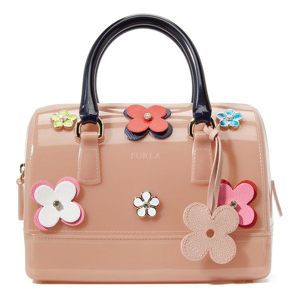 FURLA Floral candy cookie satchel - A Furla bag in colorful rubber, accented with floral