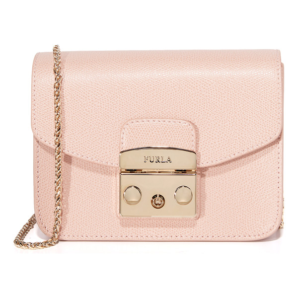 FURLA Metropolis mini cross body bag - A petite Furla cross body bag in rich leather. A polished