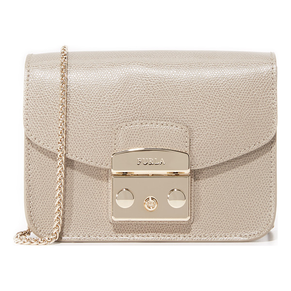 FURLA metropolis mini cross body bag - A petite Furla cross-body bag in rich leather. A polished