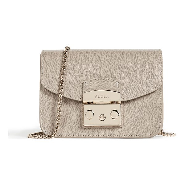 FURLA metropolis mini cross body - Leather: Cowhide Push-button clasp at front Patch interior...
