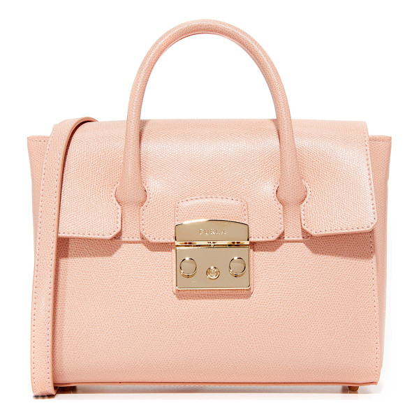 FURLA Metropolis small satchel - A small, structured Furla bag in saffiano leather. A