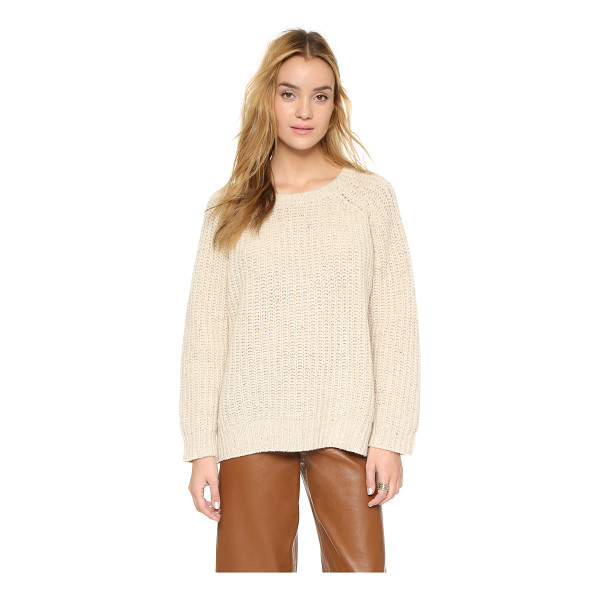 GANNI Chelsea sweater - A slouchy Ganni sweater with subtly speckled color. Ribbed...