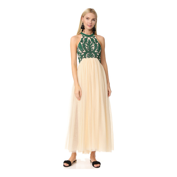 GANNI colby sequin gown - Shimmery sequins form a vibrant floral motif across the...
