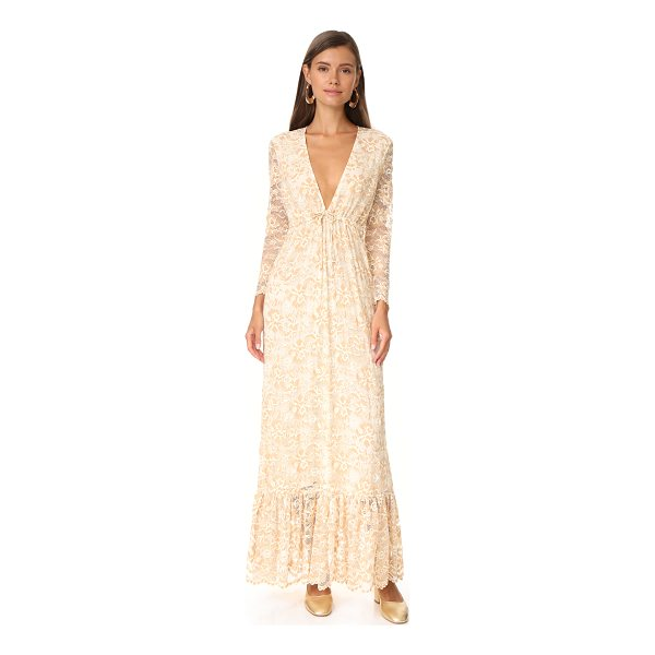GANNI flynn lace dress - A romantic Ganni maxi dress in delicate lace. A drawstring...