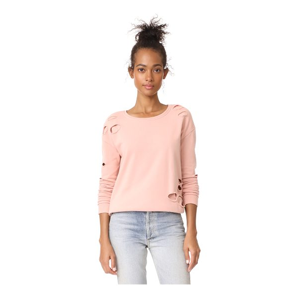 GENERATION LOVE viola holes top - Tonal jersey composes the peek-a-boo hem of this Generation...