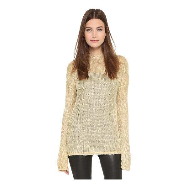 GEORGIA ALICE Spangly motel sweater - A slouchy, open knit Georgia Alice sweater with a metallic...