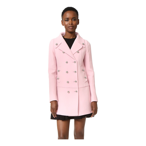 GIAMBATTISTA VALLI Coat - Bold metal buttons shine from this double breasted...