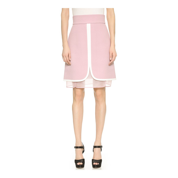 GIAMBATTISTA VALLI Layered skirt - Contrast banding defines the paneled construction of this...