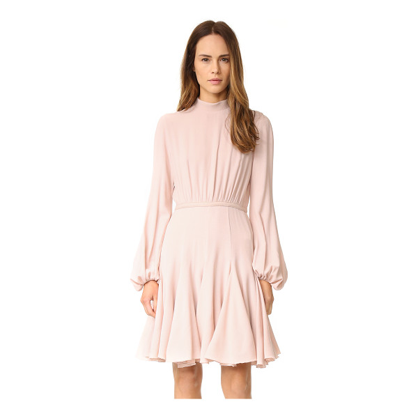 GIAMBATTISTA VALLI Long sleeve dress - A gored skirt brings flirty swing to this Giambattista...