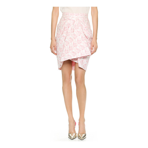 GIAMBATTISTA VALLI Printed skirt - Delicate embroidered flowers drift throughout this romantic...