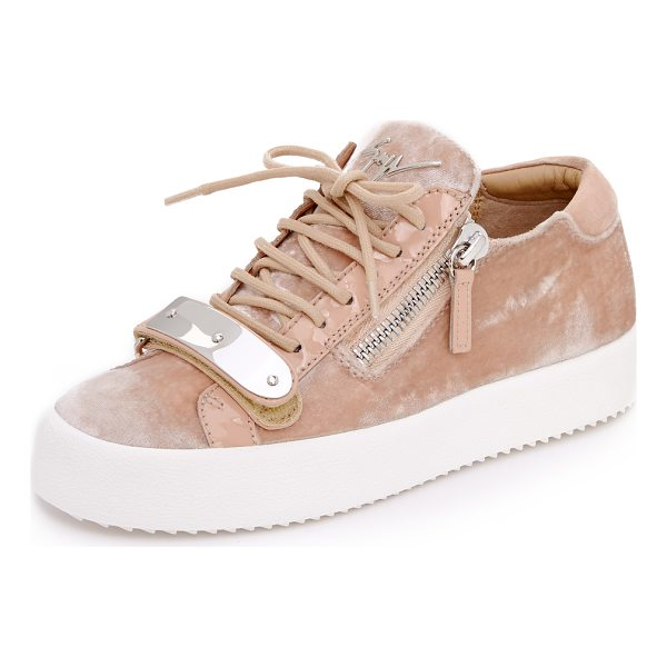 GIUSEPPE ZANOTTI maylondonmoc sneakers - Plush velvet adds a luxe update to these signature...