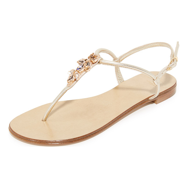 GIUSEPPE ZANOTTI thong sandals - Glittering Swarovski crystals detail the T-strap on these...