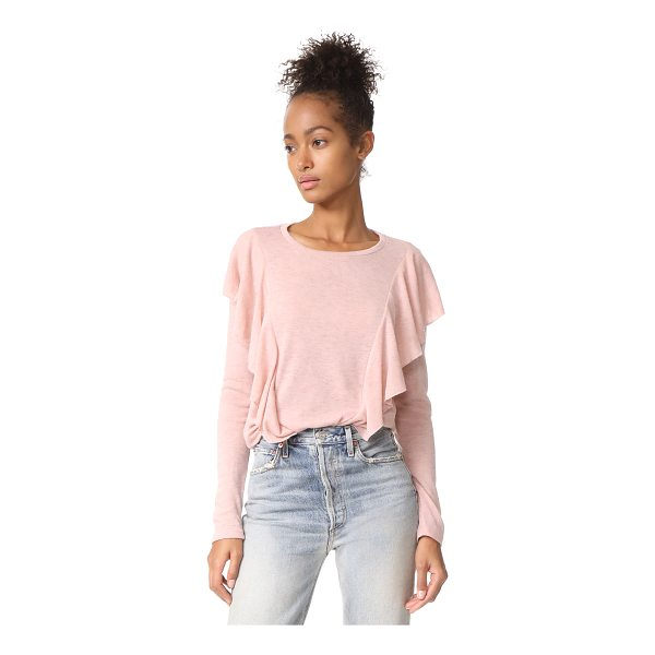 GLAMOROUS ruffle pullover - Voluminous ruffles add a romantic embellishment to this...