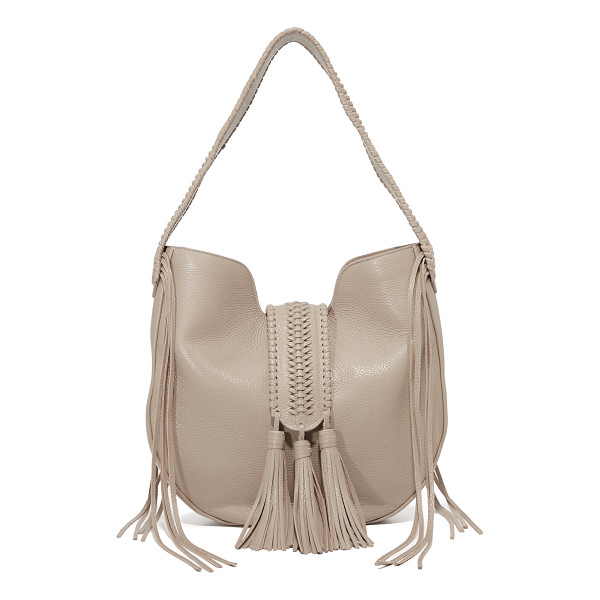 GRACE ATELIER DE LUX Grace Atelier De Lux Bohbo Hobo Bag - A braided magnetic strap with tassels crosses the top of