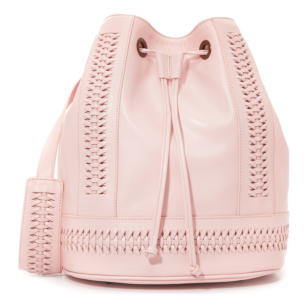 GRACE Babette tresse bucket bag - A large GRACE bucket bag in supple leather, accented with