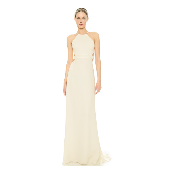 HALSTON Back cutout gown - Cutouts add a daring feel to this elegant Halston Heritage...
