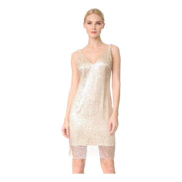 HANEY laura dress - Iridescent sequins create a rainbow shimmer effect on this...