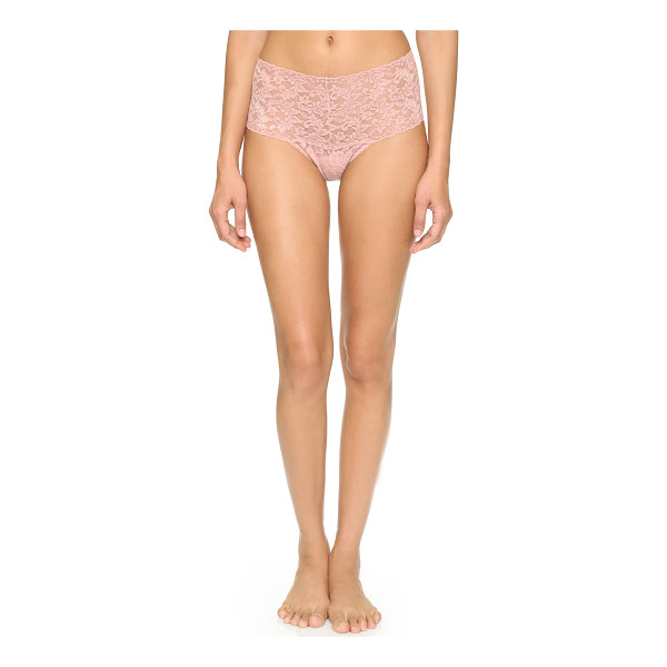 HANKY PANKY Retro collection thong - A Hanky Panky thong in floral stretch lace. Lined gusset....