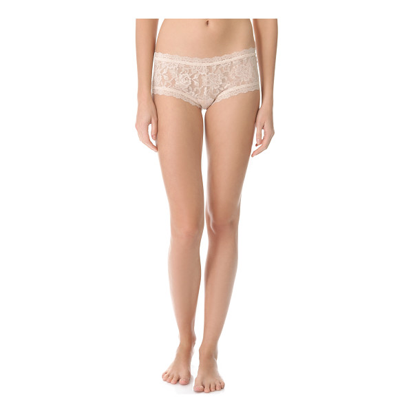 HANKY PANKY signature lace boy shorts - A Hanky Panky classic, these stretch-lace boy shorts...