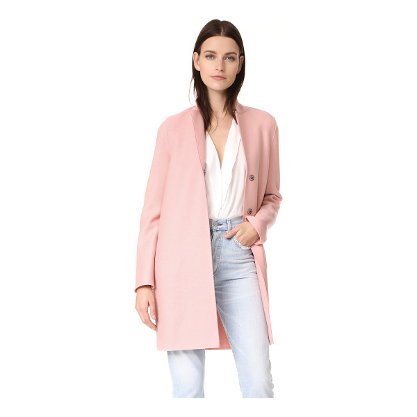 HARRIS WHARF LONDON cocoon coat - A Harris Wharf London coat in soft wool. Notched lapels and...