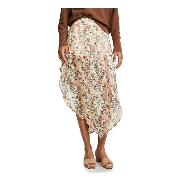 HAUTE HIPPIE anastasia slayer skirt - A bold Haute Hippie floral skirt with a rounded hem and...
