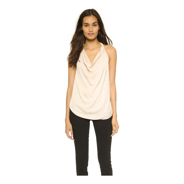 HAUTE HIPPIE Embellished strap cowl tank - Beaded straps add an elegant touch to this airy silk Haute...
