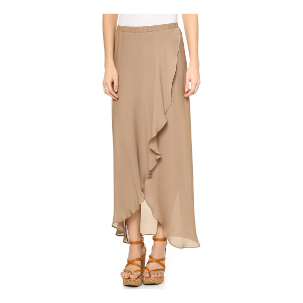 HAUTE HIPPIE Maxi skirt with shorts - Draped panels lend an effortless drape to this airy Haute...
