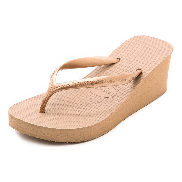 HAVAIANAS High fashion wedge flip flops - Classic Havaianas flip flops gain flattering height with a...