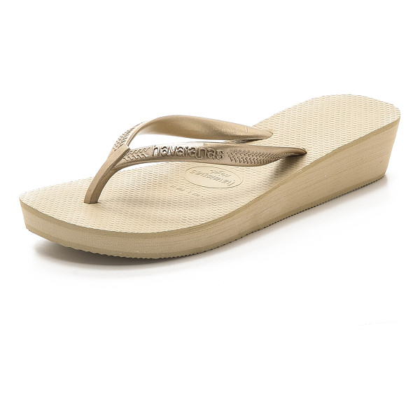 HAVAIANAS High light wedge flip flop - Classic Havaianas flip flops gain flattering height with a...