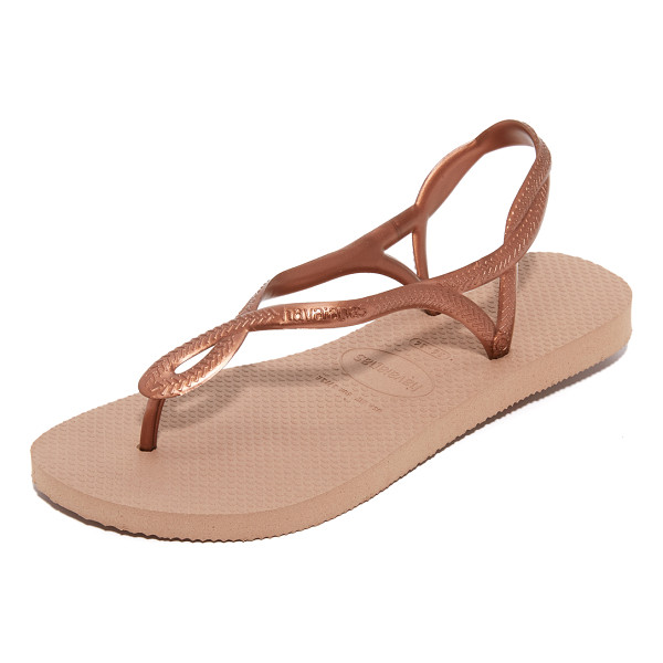 HAVAIANAS luna sandals - Textured straps weave together on these metallic Havaianas