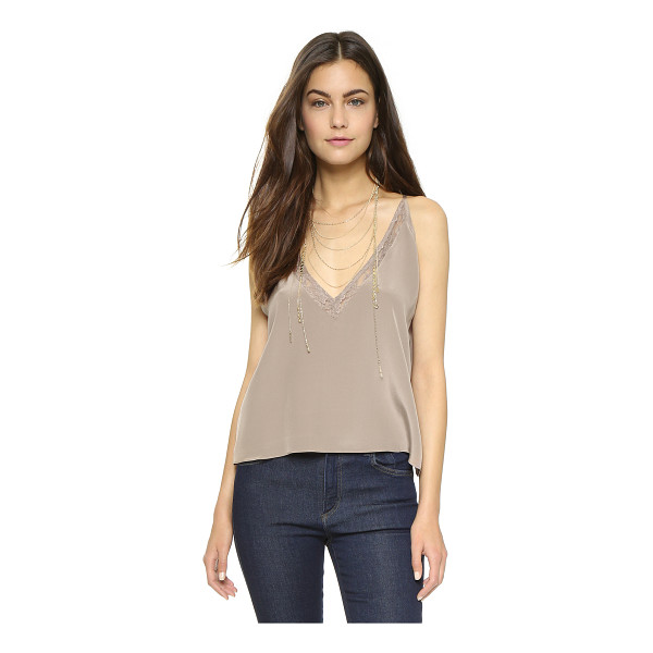 HELENA QUINN Cara tank - A delicate Helena Quinn tank crafted in luxe silk. Lace...