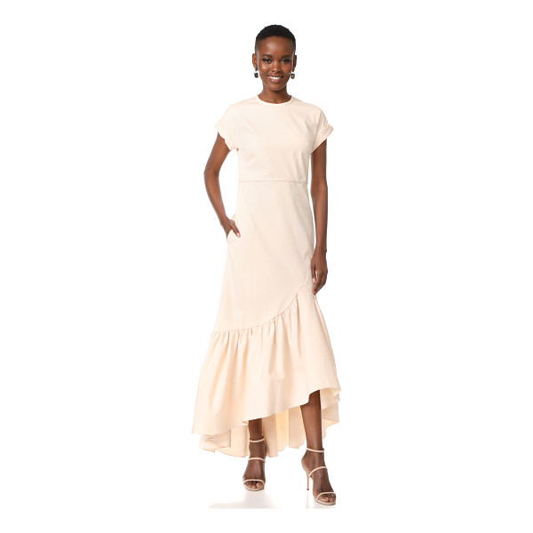 HELLESSY ravena cap sleeve dress - A ruched, high-low hem brings dramatic volume to this...
