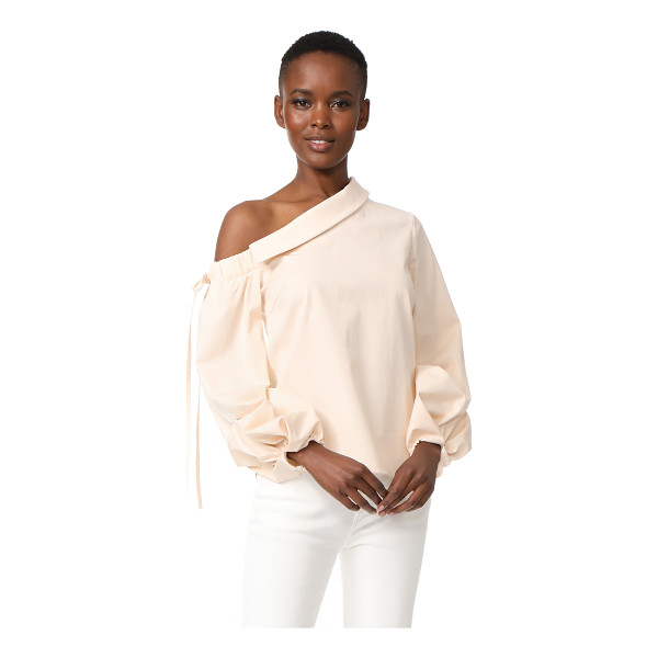 HELLESSY rimini off the shoulder top - Pleated bishop sleeves give this Hellessy top a unique,...