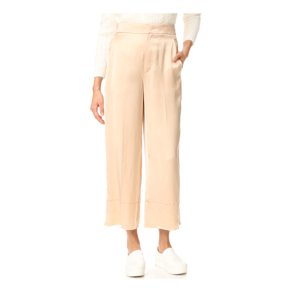 HELMUT LANG double satin pants - Fluid satin brings glamorous style to these ultra-wide...