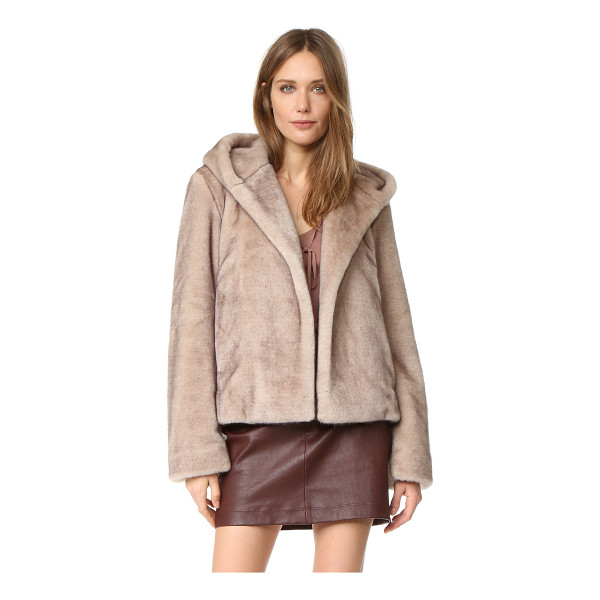HELMUT LANG Faux mink bomber - Soft faux fur lends glamour to this hooded Helmut Lang...
