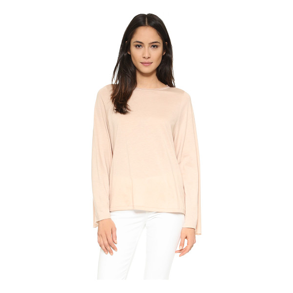 HELMUT LANG Long sleeve top - An oversized profile lends an easy feel to this soft jersey...
