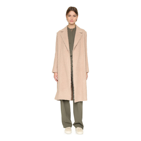 HELMUT LANG Shaggy coat - A napped finish lends rich texture to this cozy Helmut Lang...