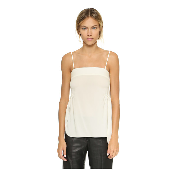 HELMUT LANG Spaghetti strap tank - An easy Helmut Lang top in a luxe silk blend, accented with...