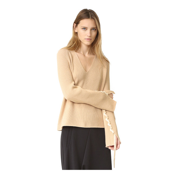 HELMUT LANG wool cashmere v neck sweater - A relaxed Helmut Lang sweater, styled with a smooth V...