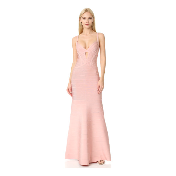 HERVE LEGER cambria gown - A sleek, elegant Herve Leger bandage gown with signature...