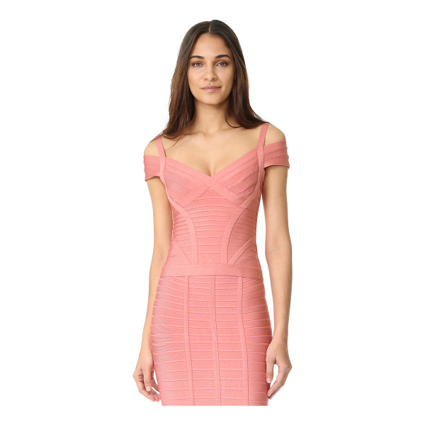 HERVE LEGER lenore v neck top - Exclusive to Shopbop. A formfitting Herve Leger top in a...
