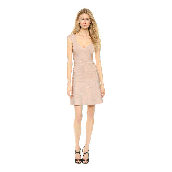 HERVE LEGER Valerie dress - This sexy, flared Herve Leger bandage dress is detailed...