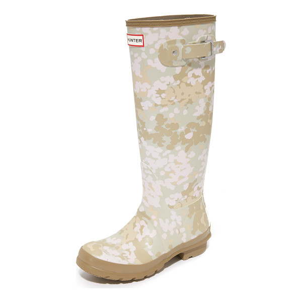 HUNTER BOOTS original tall camo boots - The original Hunter Wellies, updated with a matte finish