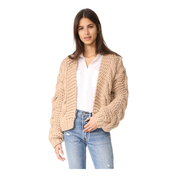 I LOVE MR MITTENS the bomber - A cropped I Love Mr Mittens cardigan, composed of chunky...