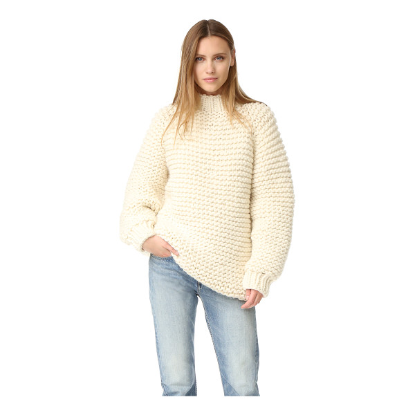 I LOVE MR MITTENS wool boxy sweater - A ultra-cozy I Love Mr Mittens turtleneck sweater, composed...