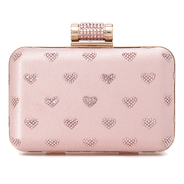 INGE CHRISTOPHER hearts clutch - Bright crystals form a heart motif on this hardshell Inge...