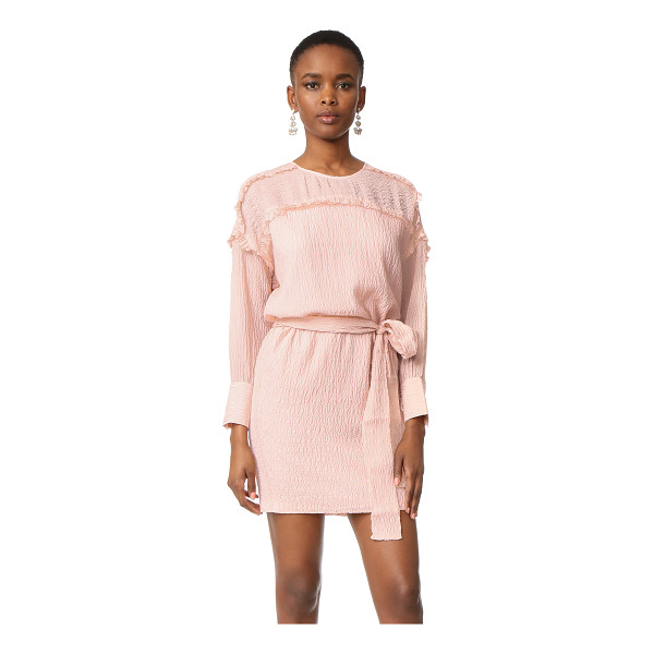 INTROPIA long sleeve belted dress - An Intropia dress composed of soft silk cloqué in a simple...